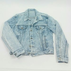 Vintage stone washed jean jacket